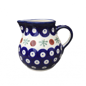 Boleslawiec Pottery Hand Painted Small Cream Jug in Cranberry