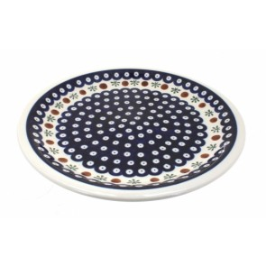 Polish Pottery Cranberry Dinner Plate - Boleslawiec Pottery