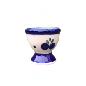 Boleslawiec Polish Pottery Egg Cup in Blueberry