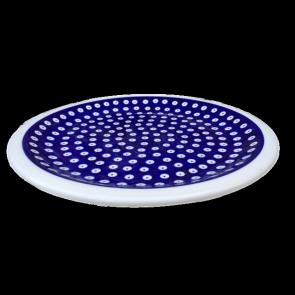 Frogeye patterned Polish Pottery Dinner Plate