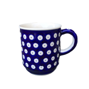 Frogeye Patterned Polish Pottery Mug (hand painted)