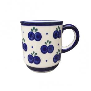 Boleslawiec Polish Pottery Straight Sided Mug in Blueberry