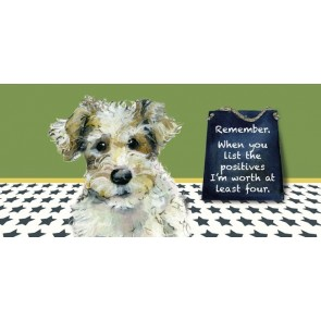 The Little Dog - Positives Greeting Card