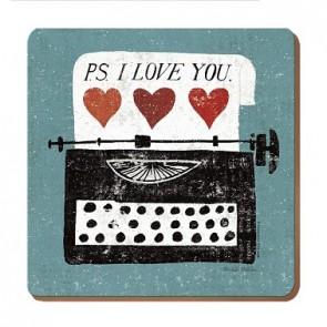 PS I Love You Coaster