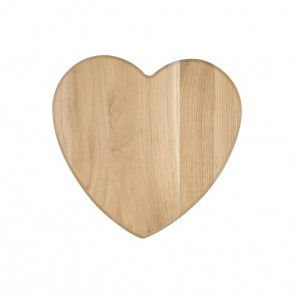 Raw oak heart board - 270mm high x 260mm wide