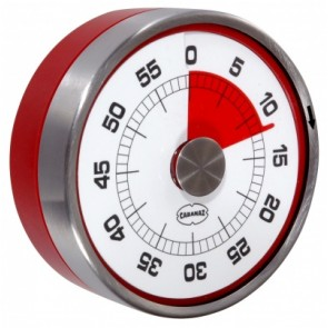 Magnetic Red Kitchen Timer - 60 Minute