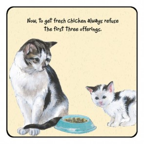 The Little Dog Refuse Cat Coaster