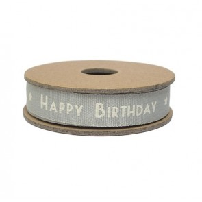 Happy Birthday Fabric Ribbon - 3 Meter Coil