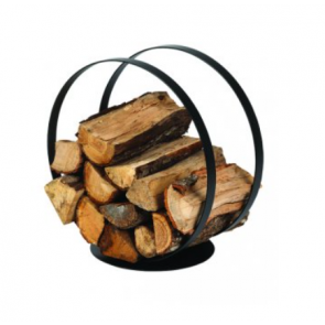 Black Steel Dixneuf Ring Log Holder