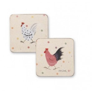 Alex Clark design Rooster Coasters
