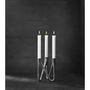 ROOTS Candlestick Holder - Chrome