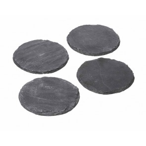 Round, Slate Drink Coasters - Set of 4