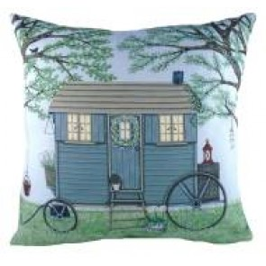 Sally Swannell Shepherds Hut Cushion