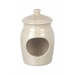 Miel Ceramic Salt Pig in a Buttermilk Glaze Finish