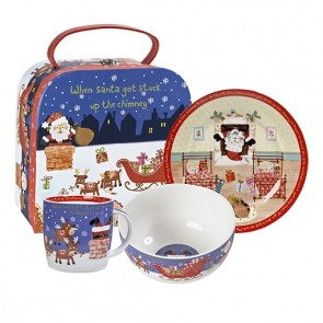 Santa Dinner Set - Christmas Dinner Ware for kids