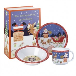 Santa Melamine Dinner Set - Father Christmas
