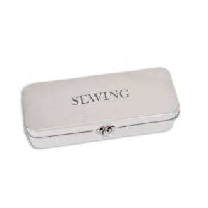 Sewing Tin in Chalk