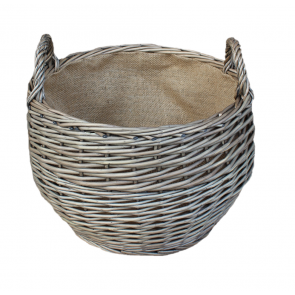 Small Antique Wash Stumpy Basket with lining