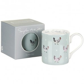 sophie allport chicken coloured mug