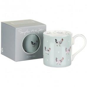sophie allport chicken coloured mug