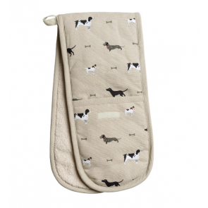 Woof! Double Oven Glove by Sophie Allport