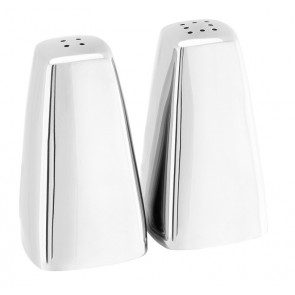 Plaza Stainless Steel Salt & Pepper Pots