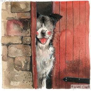 Alex Clark 'Stable door' print  - Working Sheepdog
