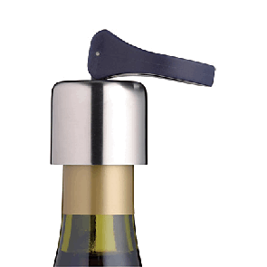 Flip top wine bottle stopper