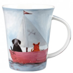 Still Waters - Sailing Boat design Mug by Alex Clark