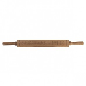 "Acacia Wood Rolling Pin by Creative Tops with ""Sweet As Pie"" logo."