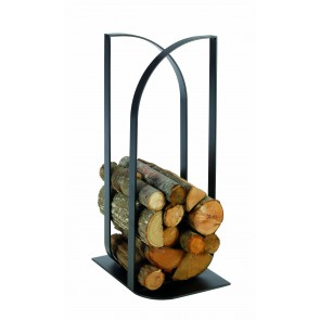Confluens metal log holder in black