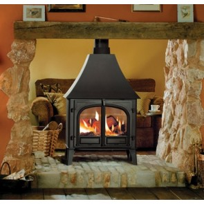 Stockton 11 double sided stove with canopy