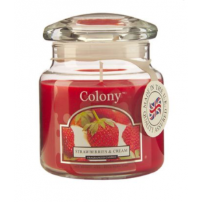 Colony Strawberries & Cream Scented Candle by Wax Lyrical
