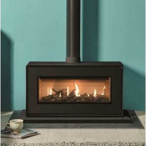 Studio 2 Freestanding  Gas Stove Black front & plinth