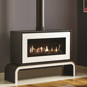Studio 2 Freestanding  Gas Stove white front & bench