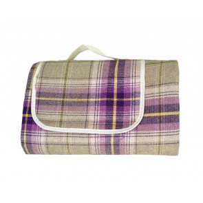 Deluxe Tartan Fleece Picnic Rug / Blanket - 1500mm x 1800mm