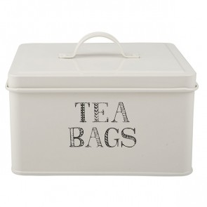 White Tea Bags Storage Tin by Creative Tops