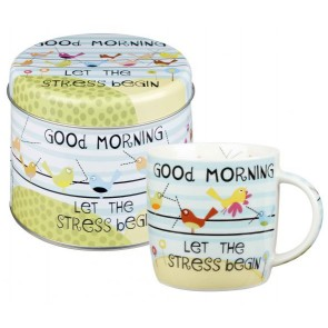 Good Morning Mug in a tin Gift set by churchill china