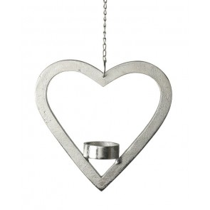 Aluminium Hanging Heart Tealight Holder