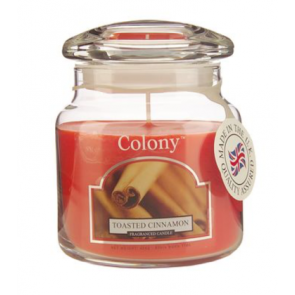 Colony Toasted Cinnamon candle jar by Wax Lyrical