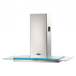 Rangemaster Toledo 100 Hood with ice blue illuminated fascia