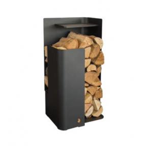 Arada Tower Log Holder in black