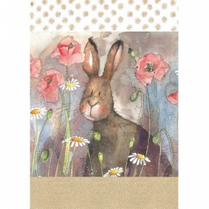 Alex Clark Hare & Poppies 100% Cotton Tea Towel