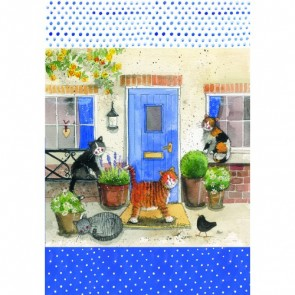 Alex Clark Friendly Felines 100% Cotton Tea Towel