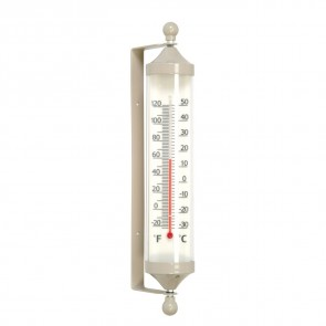 Large Fair Isle Tube Thermometer in Clay