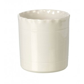 Miel Cream Ceramic Utensil Pot - Parlane - Handmade in Portugal
