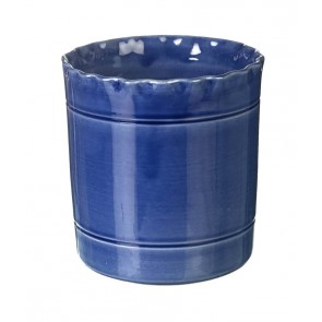 Miel Blue Handmade Utensil Pot by Parlane - 140mm x140mm