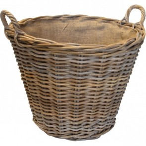Sandon Round Lined Log Basket
