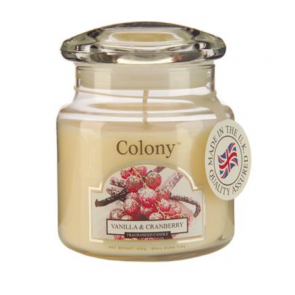 Colony Vanilla & Cranberry Candle Jar - Wax Lyrical