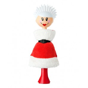 Vigar Mrs Claus dish brush & sponge set